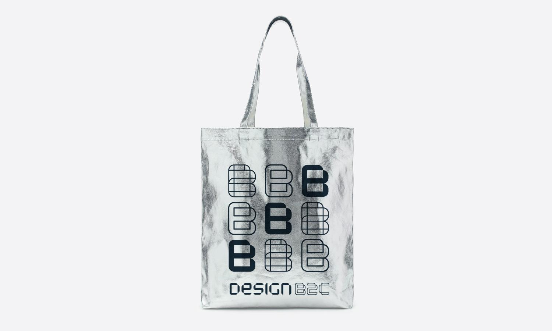 Design B2C silver tote